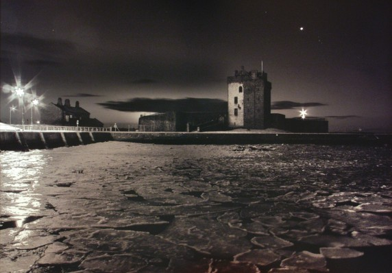 Broughty Castle Ice by Ellis Lawrence - Mono Print 3rd EQUAL