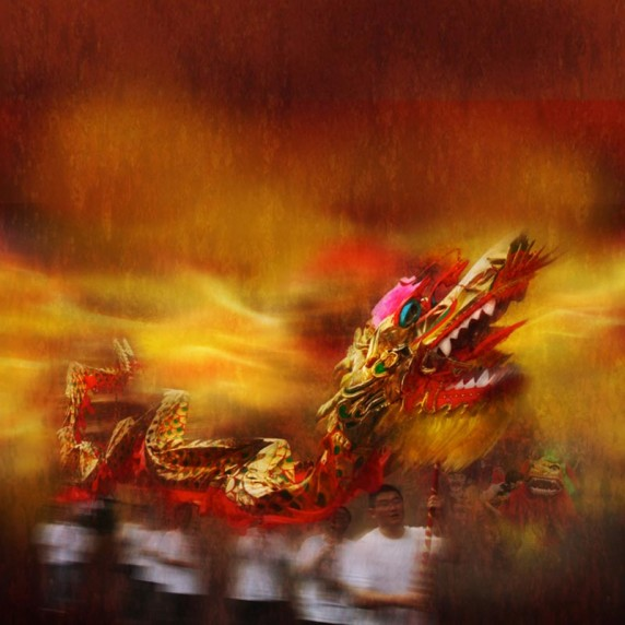 Dragon Dance by Al Buntin - Projected Image 1st