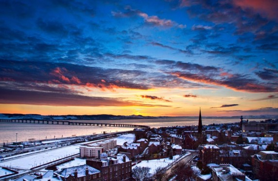 Dundee West End Winter Sunset by Shahbaz Majeed - Image 2 of 3