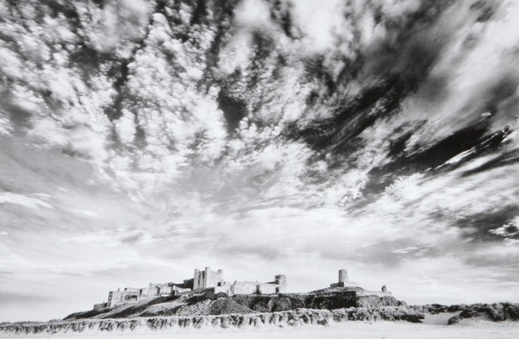 Evening Sky Bamburgh by Jennifer French - Mono Print 4th