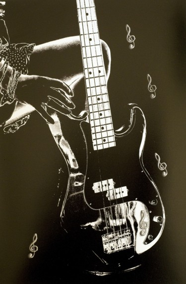Guitar by Eva Harvey - Mono Print 1st