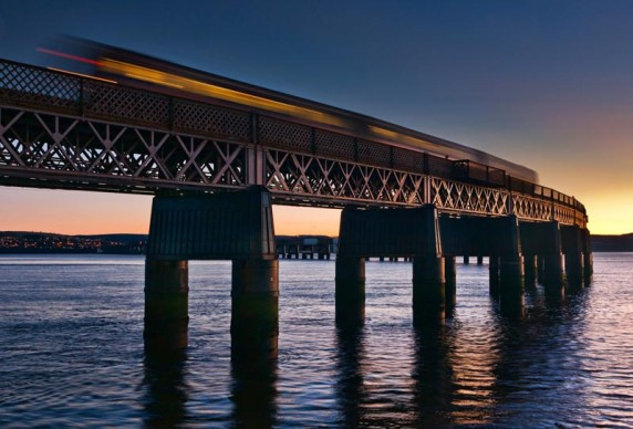 Tay Rail Bridge Sunset by Shahbaz Majeed - Image 1 of 3