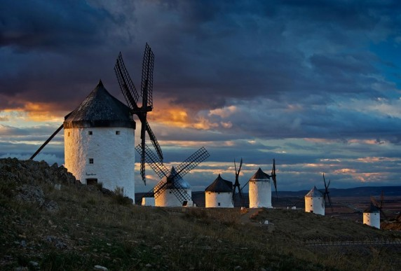 Windmills of La Mancha by Brian Clark - Colour Print 1st