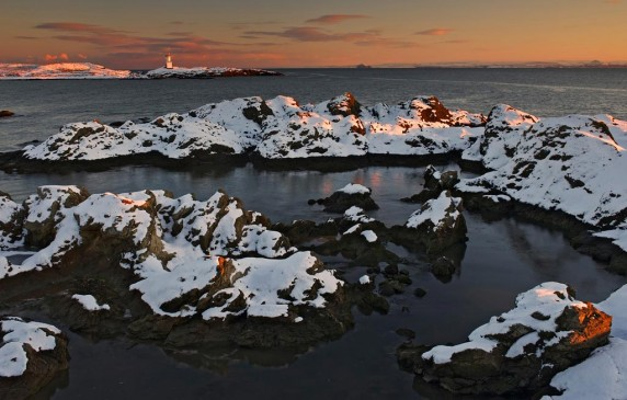 Winter Sunset Elie by Brian Clark - Projected Image 1st