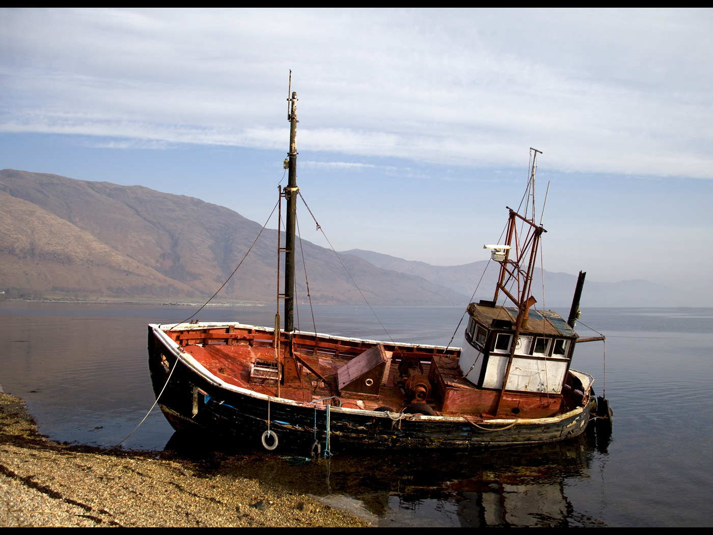 Colour Print - 1st Place: Old Boat at Curran by Iain Wilkie