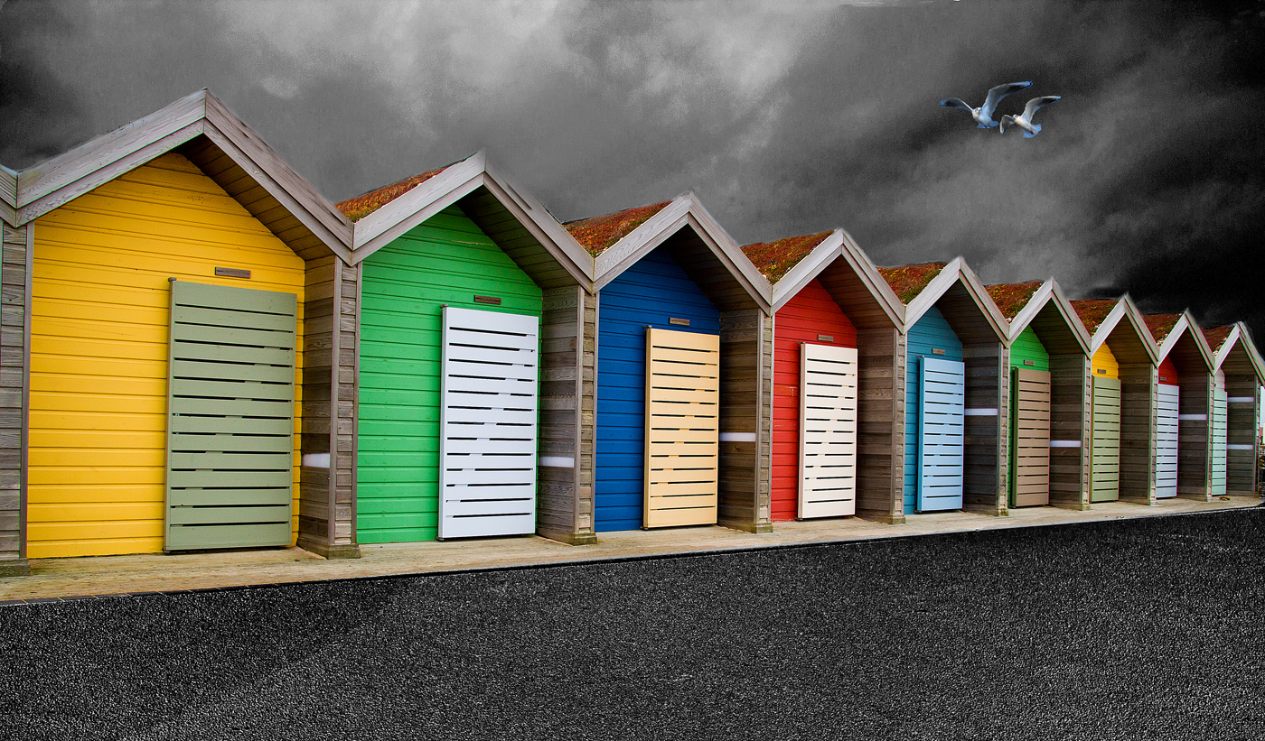 Colour Print - 1st Place: Beach Huts at Blyth by Alan Brown