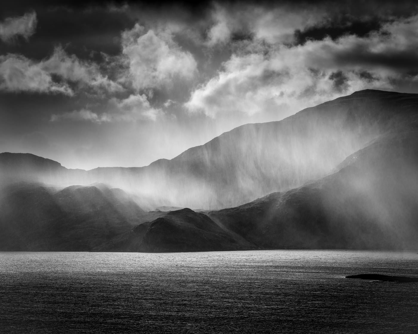 Mono Print - 2nd Place: Wet Day in Harris by Brian Clark