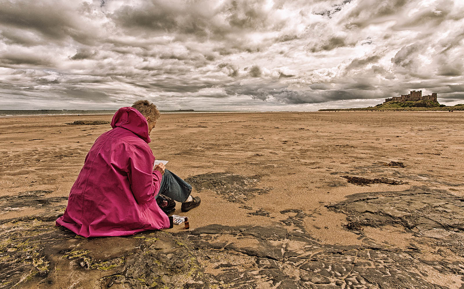 Evelyn at Bamburgh